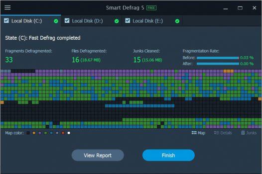 Smart Defrag 5 PRO screenshot 13-result
