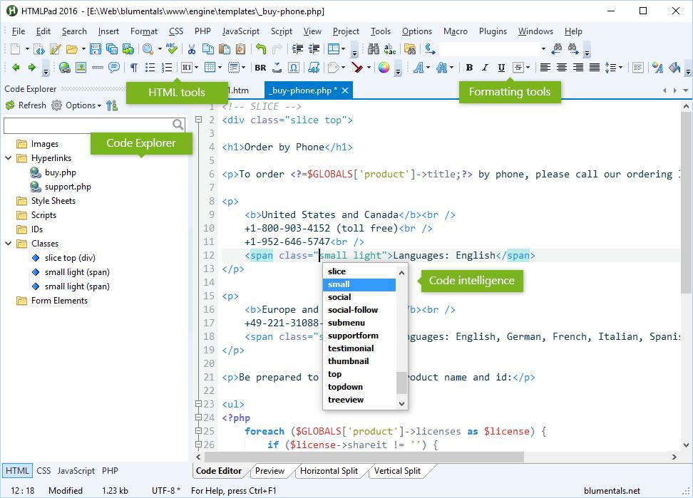 HTMLPad 2016 Screenshot html-editor