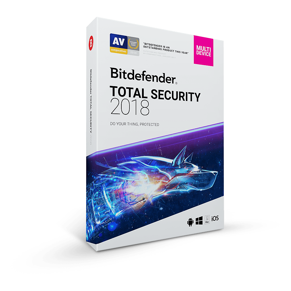 Only for $19.99 – Exclusive offer for Bitdefender Total Security 2018 – 1 Year / 5 Devices