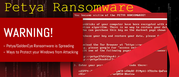 Ways to Protect your Windows from Petya-GoldenEye Ransomware Attacking screenshot