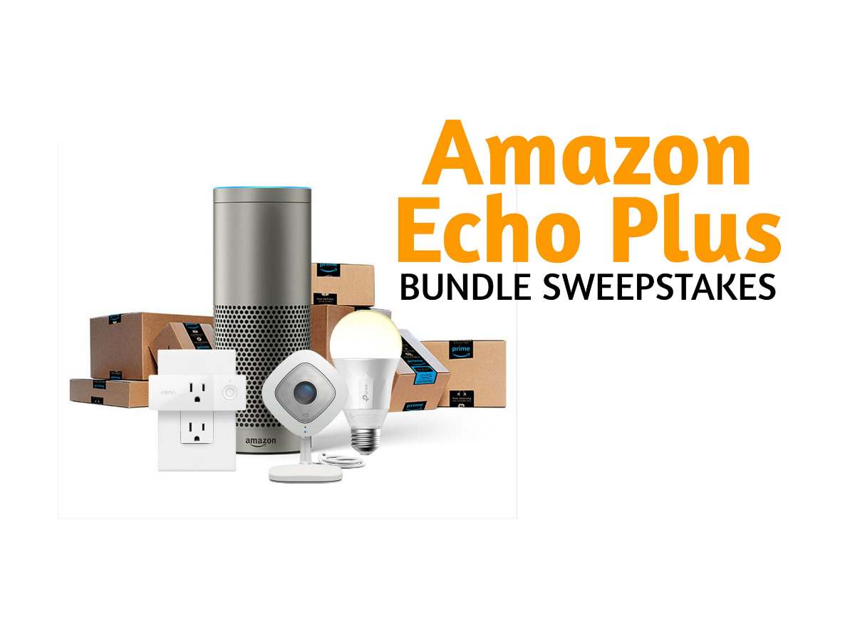 free enter to win amazon echo smart home bundle sweepstakes. Black Bedroom Furniture Sets. Home Design Ideas