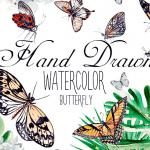Free Design Beautiful Watercolor Butterflies