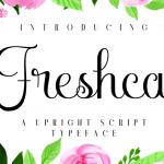 Free Font -Freshca an upright script typeface