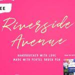 Free Font Riverside Avenue handwritten font