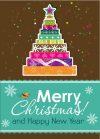 free depositphoto Template Christmas greeting card, vector– stock illustration