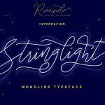 Stringlight Typeface - Monoline Script with a Premium Font License