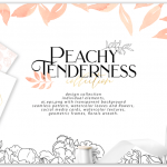 Peachy Tenderness Illustration pack free download