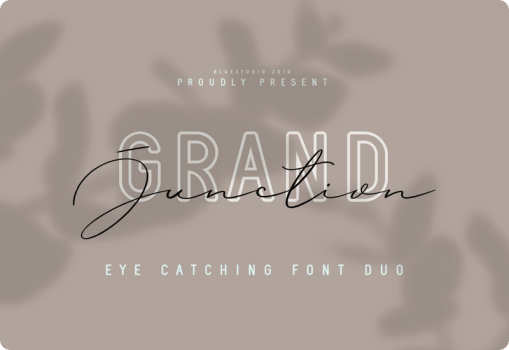 Grand Junction Font Duo Extended License Download