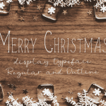 Merry Christmas Display Font Free
