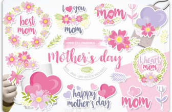Prettygrafik Mothers Day illustration commercial license download