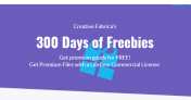 300 Days of Freebies – Get Premium Files with a Lifetime Commercial License for FREE