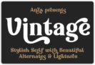 Free Vintage Font by Anna Zakharchenko – Stylish Retro Bold Display Serif – Commercial License
