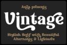 Free Vintage Font by Anna Zakharchenko – Stylish Retro Bold Display Serif – Commercial License