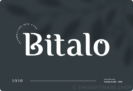 Free Font: Bitalo by Gedrig – Commercial Use License