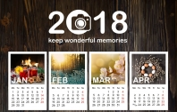 Free Gift: Depositphotos Calendar 2018 PSD Template