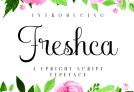 Free Font: Freshca – Upright Script Typeface – Premium License