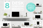 Free Mockup Design: Computer Mockup & Desk Mockup Bundle With Premium License