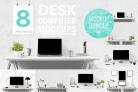 Free Mockup Design: Computer Mockup & Desk Mockup Bundle With Premium License