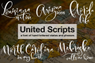 Free Font Of The Week:  United Scripts with Premium License – A Font of Hand-lettered States & Phrases