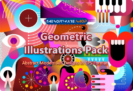 98% OFF Geometric Illustrations Pack – Abstract Modern Art Designs in EPS Format