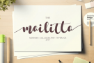 Mailitta Font includes Complete License – FREE of charge (Normally US$14)