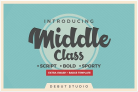 Free Font: Middle Class Script + Extra
