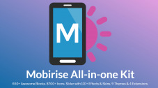 64% Off Coupon on Mobirise All-in-One Kit – Includes The Best Premium Extensions & Themes for Mobirise