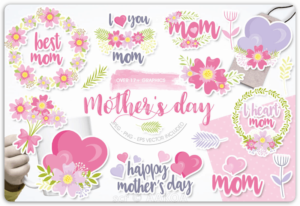 Free Mother's Day by Prettygrafik –  Commercial Licence (Basic POD)