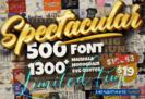 99% Off on Spectacular Collection Big Bundle: 500 Premium Fonts + 1309 Premium Graphics