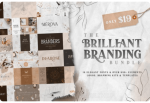96% Off – The Brilliant Branding Bundle:  18 Elegant Fonts and Over 940+ High-Quality Design Elements