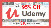 Udemy Courses Only $10.99 Each – Discount Coupon up to 95% Off!!
