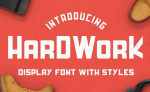 Free Fonts: HardWork – Display Font With Styles (Commercial License, Normally $12)