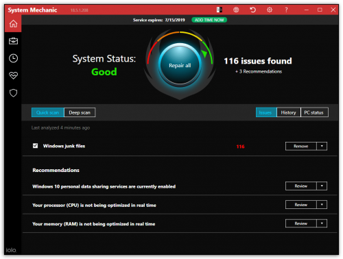 Get System Mechanic 18 5 Activation Key With 6 Month License For Free